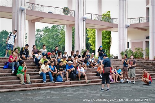 Couch Surfers at Quezon Hall
