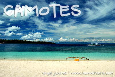White beach of Tulang Island, Camotes, Cebu