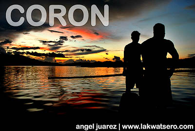 Our Coron Loop ended at sundown