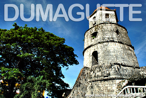 The famous bell tower of Dumaguete